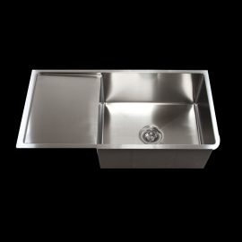 single bowl with drain straight sink