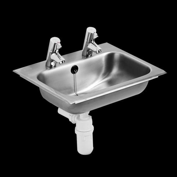 steel wash basin